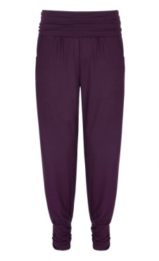Long Harem Pants - Berry
