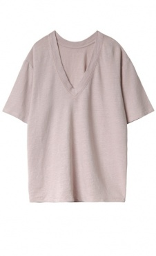 10Days Reversible V-Neck Tee - Zinc