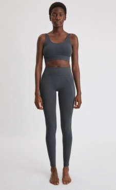 Filippa K High Seamless Leggings - Metal
