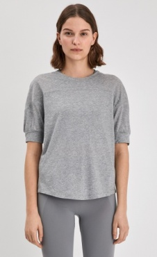 Filippa K Soft T-shirt Light Grey Marl