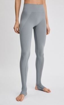FilippaK Seamless Open Heel Mesh Legging Nickel