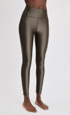 FilippaK Cropped Gloss Legging - Olive