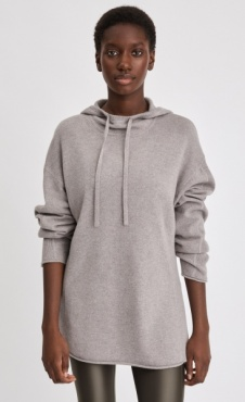 FilippaK Layer Cashmere Hoodie Pearl