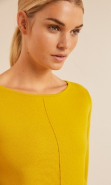 Lanius Boatneck Knit 3/4 Sleeve - Kiwi Gold
