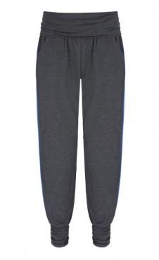 Long Harem Pants - Dark Grey/ Blue