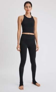 FilippaK Seamless Open Heel Mesh Legging Black