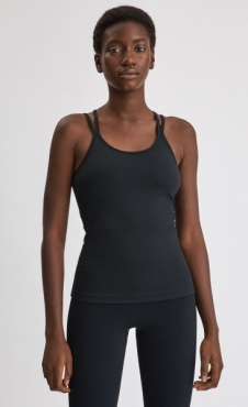 FilippaK Cross Back Yoga Top Black