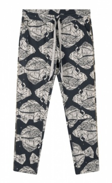 10Days Cropped Jogger Piranha - Dark Blue/ grey