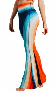 Recycled Bell Bottoms Retro Rainbow