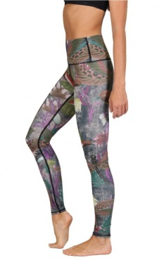 Yoga Leggings Dragonfly - Earth