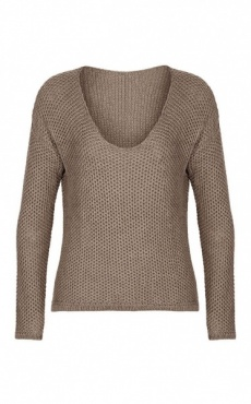 Maple Waffle Sweater - Cinnamon