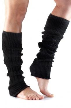 Knitted Leg Warmer - Black