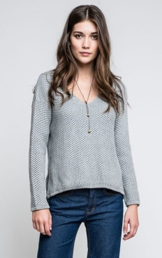 Maple Waffle Sweater - Grey