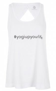 Yogi Up Your Life Top - White