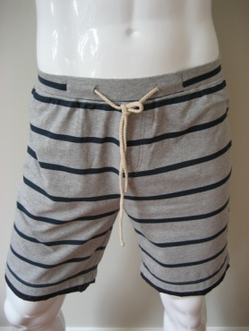 Active Yoga Shorts - Navy Stripes