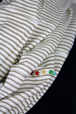 Infinity Scarf Chakra Stones &Stripes